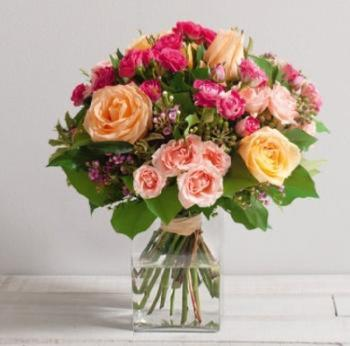 Caresse - Bouquet rond de roses
